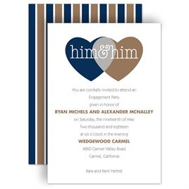 Engagement Party Invitations: Shared Love Mr. and Mr. Engagement Party Invitation
