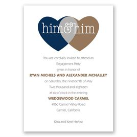 Shared Love - Mr. and Mr. - Engagement Party Invitation