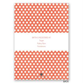Posies and Polka Dots - Bridal Shower Invitation