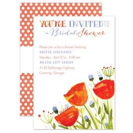Bridal Shower Invitations: Posies and Polka Dots Bridal Shower Invitation