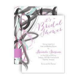 Bridal Shower Invitations: Abstract Beauty Petite Bridal Shower Invitation