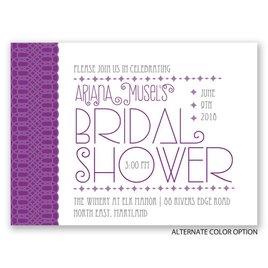 Pretty Typography - Petite Bridal Shower Invitation