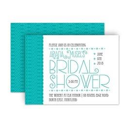 Bridal Shower Invitations: Pretty Typography Petite Bridal Shower Invitation