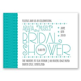 Pretty Typography - Petite Bridal Shower Invitation