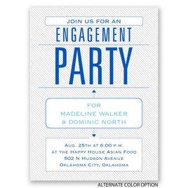 Trendy Statement - Petite Engagement Party Invitation