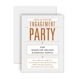 Engagement Party Invitations: Trendy Statement Petite Engagement Party Invitation