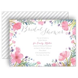 bridal shower invitations pastel floral bridal shower invitation