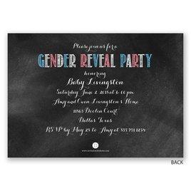 Chalkboard Invite - Gender Reveal Invitation