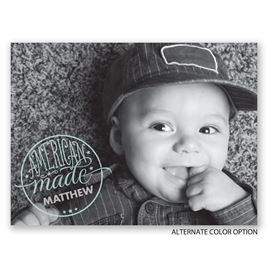American Made - Petite Birth Announcement