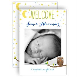 Birth Announcements: Little Night Owl Birth Announcement
