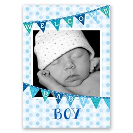 Welcome Baby Boy - Birth Announcement