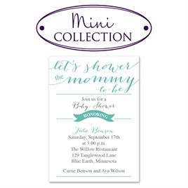 """Baby Shower Invitations: Let""""s Shower Mommy Mini Baby Shower Invitation"""