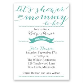 "Let""s Shower Mommy - Mini Baby Shower Invitation"