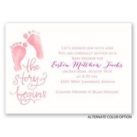 The Story Begins - Mini Baby Shower Invitation