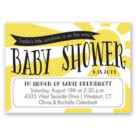 Little Sunshine - Mini Baby Shower Invitation