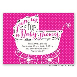 Baby Carriage - Mini Baby Shower Invitation