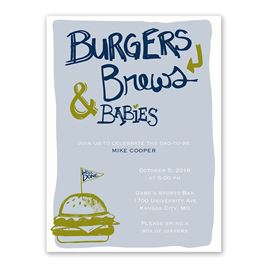 Burgers & Brews - Petite Baby Shower Invitation