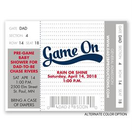 Game On - Petite Baby Shower Invitation