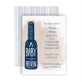 Cheap Baby Shower Invitations: Baby Brewing Petite Baby Shower Invitation
