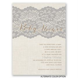 Luxurious Lace - Petite Baby Shower Invitation