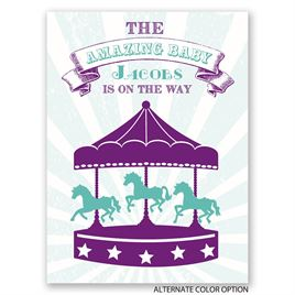 The Amazing Baby - Petite Baby Shower Invitation