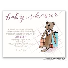 Sweet Teddy Bear - Petite Baby Shower Invitation