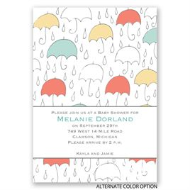 Under the Umbrellas - Baby Shower Invitation