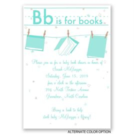 Learning Letters - Baby Shower Invitation