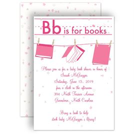Baby Shower Invitations: Learning Letters Baby Shower Invitation