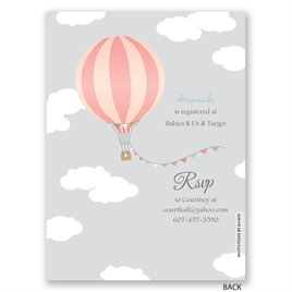 Up, Up & Away - Petite Baby Shower Invitation