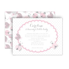 Cheap Baby Shower Invitations: Ladybugs Petite Baby Shower Invitation