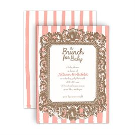 Baby Shower Invitations: Brunch For Baby Petite Baby Shower Invitation