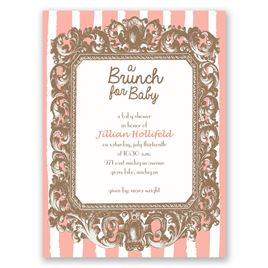 Brunch for Baby - Petite Baby Shower Invitation