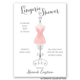 Lingerie Display - Bridal Shower Invitation