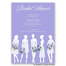 Bridal Party Silhouettes - Bridal Shower Invitation