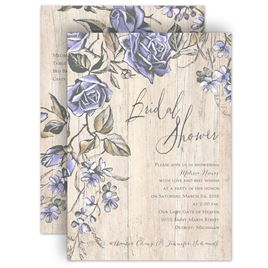 bridal shower invitations rustic rose bridal shower invitation