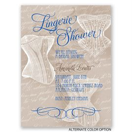 Vintage Lingerie - Petite Bridal Shower Invitation