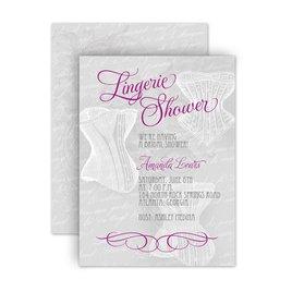 Bridal Shower Invitations: Vintage Lingerie Petite Bridal Shower Invitation