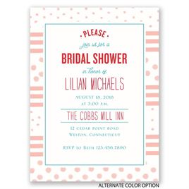 Dots and Stripes - Petite Bridal Shower Invitation
