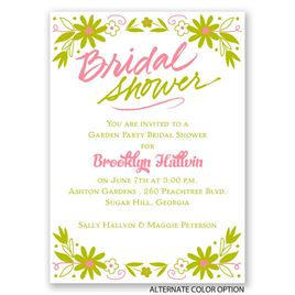 Floral Splash - Mini Bridal Shower Invitation