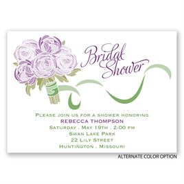 Rose Bouquet - Mini Bridal Shower Invitation