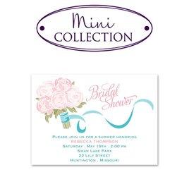 Bridal Shower Invitations: Rose Bouquet Mini Bridal Shower Invitation