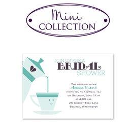 Bridal Shower Invitations: Cup of Tea Mini Bridal Shower Invitation