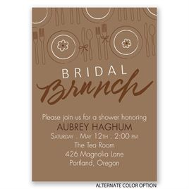 "Let""s Do Brunch - Mini Bridal Shower Invitation"