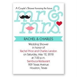 Quirky Couple - Mini Wedding Shower Invitation