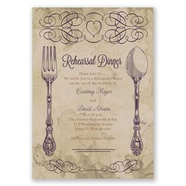 Elegant Dining - Rehearsal Dinner Invitation