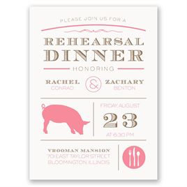 "Chef""s Choice - Pork - Petite Rehearsal Dinner Invitation"