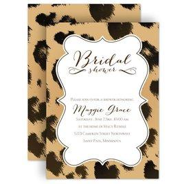 Bridal Shower Invitations: Leopard Luxury Bridal Shower Invitation