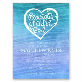 Calm Waters - Petite Baptism Invitation