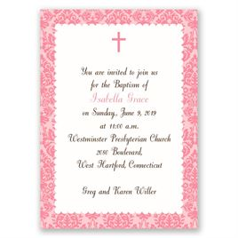 Beautiful Beginnings - Mini Baptism Invitation